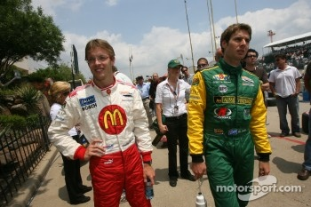 Sébastien Bourdais and Will Power at drivers introduction