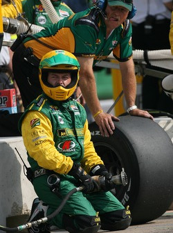 Team Australia crew member ready for a pitstop practice