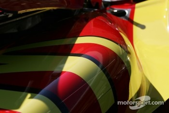 Detail of Sbastien Bourdais' car