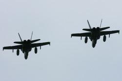 CF-18 flyover