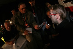 Sébastien Bourdais talks with the media