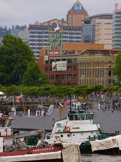 Boats on Willamette River