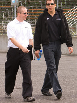 Track walk for Justin Wilson