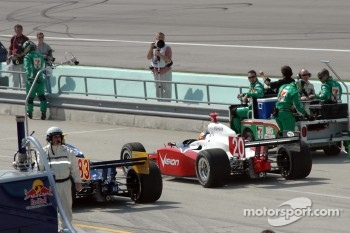 Ed Carpenter on the starting grid
