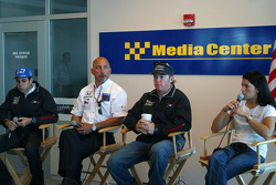 Rahal Letterman Racing press conference: Vitor Meira, Bobby Rahal, Buddy Rice and Danica Patrick