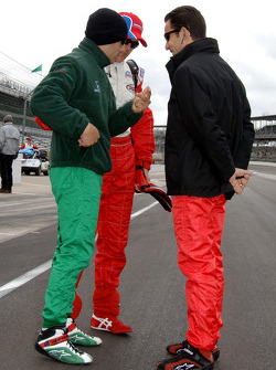 Tony Kanaan, Adrian Fernandez and Helio Castroneves