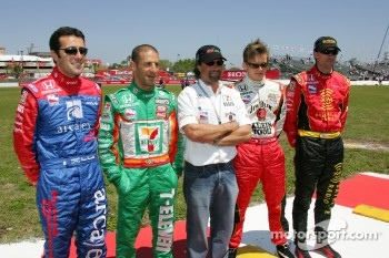 Dario Franchitti, Tony Kanaan, Michael Andretti, Dan Wheldon and Bryan Herta