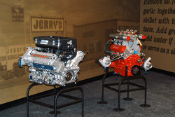 Racing engines awaiting placement into Design and Engineering room
