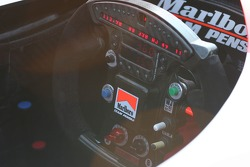 Team Penske's steering wheel and dash readout