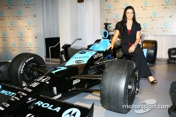 Danica Patrick with the Andretti Green Motorola car