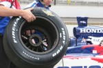 The special Firestone Firehawk Indy 500 tire