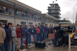 Fans watch action on Gasoline Alley