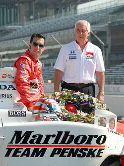 Sam Hornish Jr. with Roger Penske