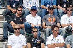 Tony Kanaan, Vitor Meira, Kosuke Matsuura, Michael Andretti, Buddy Rice, Townsend Bell and Bryan Herta