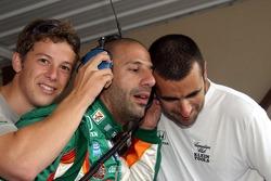 Marco Andretti, Tony Kanaan and Dario Franchitti