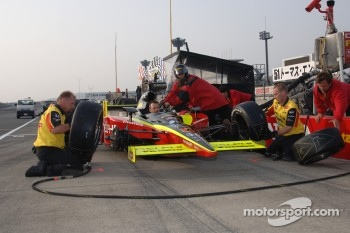 Pitstop practice at Fernandez Racing