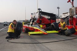 Pitstop practice at Fernandez Racing