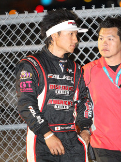 Daijiro Yoshihara moments after winning the Formula Drift competition at Road Atlanta