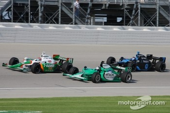 Tony Kanaan, Ed Carpenter and Danica Patrick