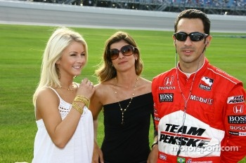 Helio Castroneves with fiance Ali and dancing with the stars partner Julianne Hough