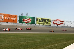 Sam Hornish Jr. leads Helio Castroneves