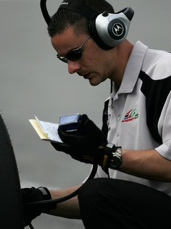 Andretti Green Racing crew member at work