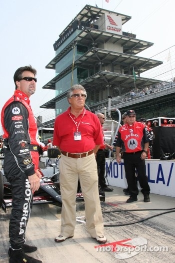 Michael Andretti and Mario Andretti