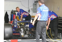Super Aguri Panther Racing crew members at work