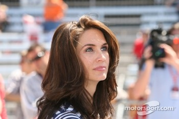 Kara Lazier, wife of driver Buddy Lazier