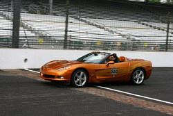Patrick Dempsey takes a ride in the Corvette Pace Car