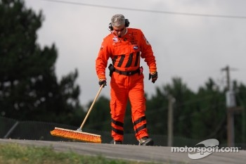 IndyCar Safety team member at work
