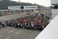 Fans wait for the autograph session