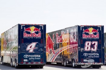 Red Bull Racing Team Toyota transporters