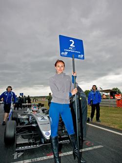 Kevin Magnussen's grid girl