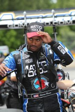 Antron Brown, moments after his second round win at the Southern Nationals