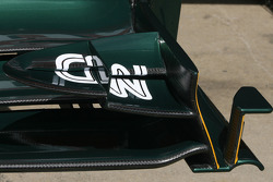 Team Lotus, Technical detail, front wing