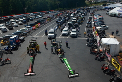 top fuel in staging lanes