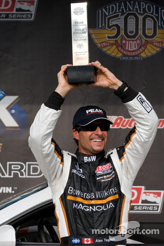 Pole winner Alex Tagliani, Sam Schmidt Motorsports