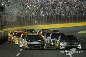 Jimmie Johnson, Hendricks Motorsports Chevrolet and Carl Edwards, Roush Fenway Racing Ford