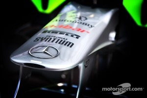 Mercedes GP Petronas F1 Team, fron wing, detail