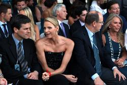 Charlene Wittstock and Prince Albert of Monaco, Amber Lounge Fashion