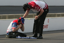 Alex Lloyd, Dale Coyne Racing crew celebrates bumping back into the 100th Anniversary of the Indianapolis 500