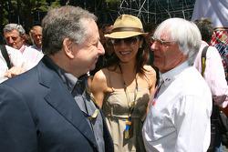 Jean Todt, FIA president with Bernie Ecclestone