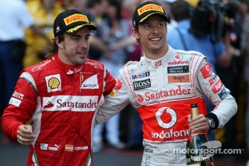 Jenson Button and Fernando Alonso, future team mates?
