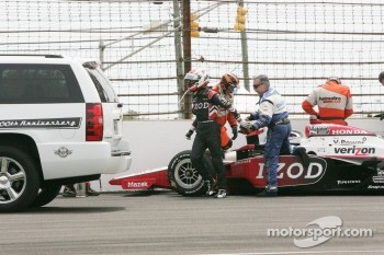 Ryan Briscoe, Team Penske after his crash