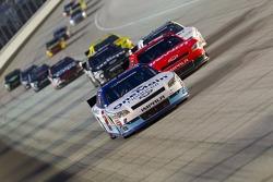 Elliott Sadler, Kevin Harvick Inc. Chevrolet leads Justin Allgaier, Turner Motorsport Chevrolet