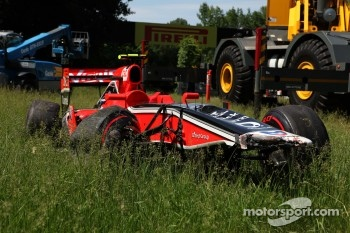 Car of Jerome d'Ambrosio, Marussia Virgin Racing