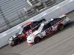 Jason Leffler, Turner Motorsport Chevrolet and Brad Keselowski, Penske Racing Dodge 