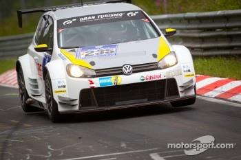 #235 Volkswagen Motorsport Volkswagen Golf24: Johnny Herbert, Mark Blundell, Edoardo Mortara, Franck Mailleux