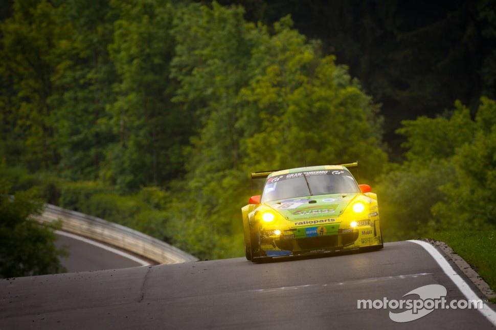 #18 Manthey Racing Porsche 911 GT3 RSR: Marc Lieb, Lucas Luhr, Romain Dumas, Timo Bernhard